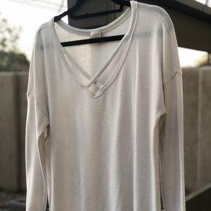 A New Day Silver Stripe Lightweight Sweater